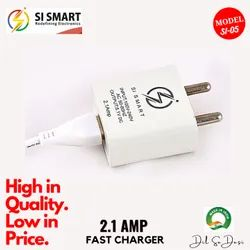 Si Smart 1 Meter 2.1 Amp Single USB Mobile Phone Charger