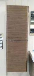 Wooden Walnut Bathroom Cabinet Tall Unit, Size/Dimension: 1500mm