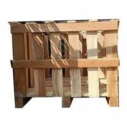 Cube Brown Wooden Pallet Box, For Packaging