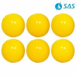 Cricket Practice Wind Ball (Set Of 6) - Yellow