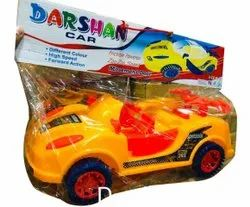 Plastic Kids Yellow Friction Toy Car