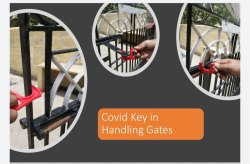 COVID KEY IN HANDLING GATES