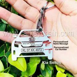 Kia Seltos Car Name Number Personalised Custom Keychain