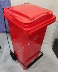 Wheel Plastic Pedal Dustbin