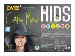 Ovee Reusable Kids 2 Layer Cotton Face Mask For Covid Protection