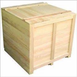 Rectangular Pinewood Wooden Pallet Box For Packaging