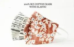 Bci Cotton Printed Face Mask