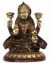 Nirmala Handicrafts Brass Lakshmi Statue Indian Goddess Idol Temple & Hall Decor, Gift Showpiece
