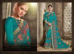 Classic Designer Dupiyan Silk Embroidered Saree