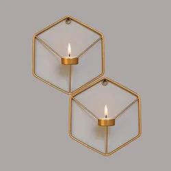 Gold Wall Candle Tea Light Holder