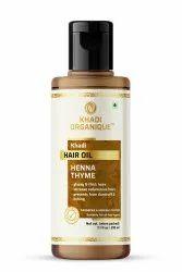 Lawsonia inermis Golden Brown Heena Thyme Hair Growth Hair Oil (SLS & Parabeen Free)