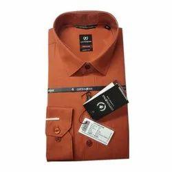 Full Sleeve Smart Fit Men Plain Poly Cotton Shirt, Handwash, Size: S-xxxl