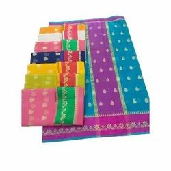 Casual Cotton Printed Saree, With Blouse Piece, 6.30 Meter