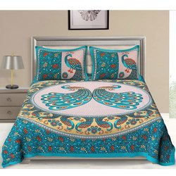 Cotton Mayur Printed Double Bed Sheet