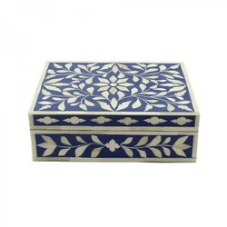 Maharaja Handicraft Square Resin Jewellery Box, For Home, Size/Dimension: 35*23*10