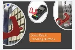 COVID KEY IN HANDLING BUTTONS
