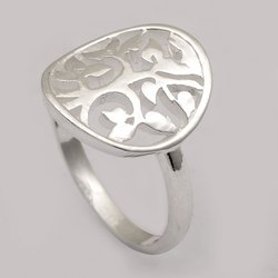 Life Of Tree  925 Sterling Silver Engraved Tree Celtic Ring Gift For Him/Her