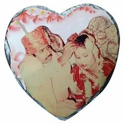 Stone 800gm Sublimation Heart Shape Rock, For Gift