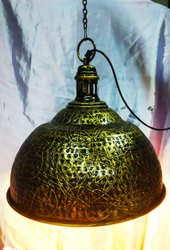 Fluorescent Bulb Traditional Hanging Metal Lamp, For Decoration