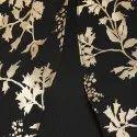 Janasya Women''s Black Poly Crepe Cape Sleeve Kurta(JNE3334)