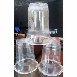 Plain 350 ml Transparent Disposable Plastic Glass