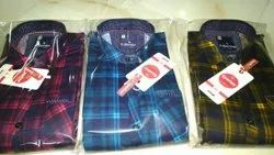 Multycolour Collar Neck M And l Size Cotton Check Shirts For Men, Handwash, Size: M-l-xl-xxl