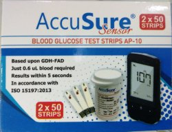 Test Srip Accusure Sensor Blood Glucose Strip