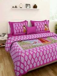 Red Cotton Bedding With Pillow Covers Bed Sheets