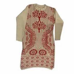 Straight Full Sleeve Ladies Woolen Kurti, Size: S-XL, Wash Care: Machine wash