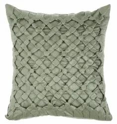 Pestal green satin handcrafted cushion cover