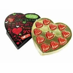 Heart Red Chocolate Box With Gift