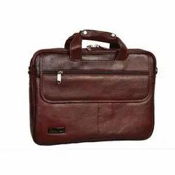 Brown Office Leather Handbag