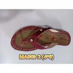 Maggi-2 Ladies PU Slippers, Size: 4 x 8