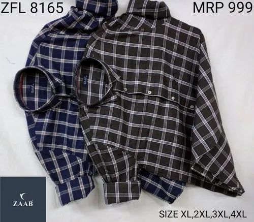 ZFL 8165 Fancy Casual Check Shirts