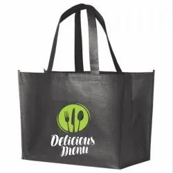 With Logo Printing Non Woven Bags, Capacity: Custom
