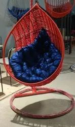 Indoor hanging chair with stand