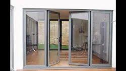 Silver Aluminium foldable door, Coutom