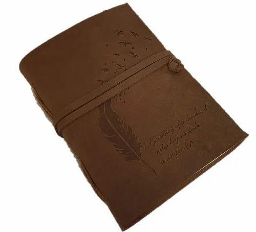 Antique Handmade Leather Bound Notepad