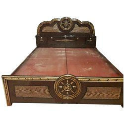 RFM Made Brown Wooden Double Bed, Size: 7 X 6 Feet