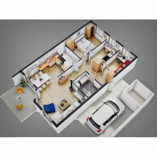 Living Room Interior House Map Design Service In Pan India Id 22032047130