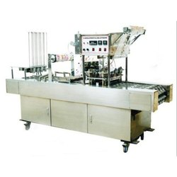 Automatic 2 Head Cup Glass Rinsing Filling & Sealing Machine