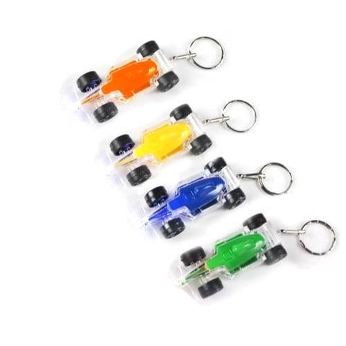 Plastic LED Light Racing Car Keychain