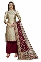 ethnic wear cotton silk dress material