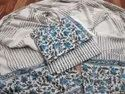 Grey And Blue Cotton Women Suits