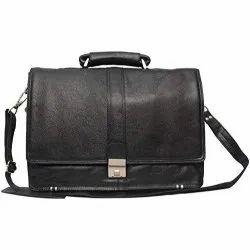 16 Inch Black Expandable Laptop Messenger Bag