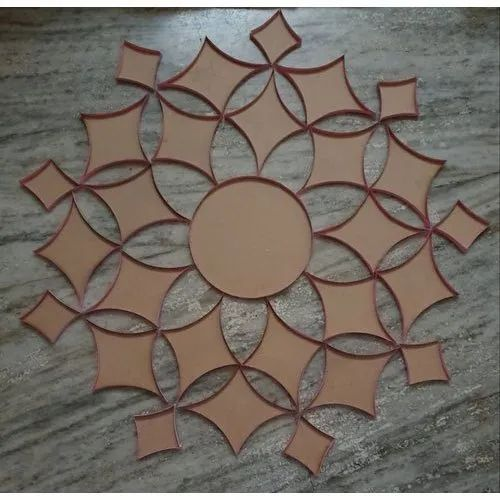 Brown MDF Rangoli Design Laser Cutting Craft, For Home Decoration, Size/Dimension: 26 Inches (diameter)