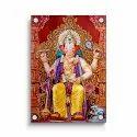 Ganesha Acrylic Wall Photo (frame Less), For Decoration, Size: 12x12 To 36x60