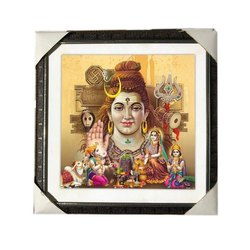Mdf Board Shiv Ji Photo Frame, Size: 16 x 16 Inch