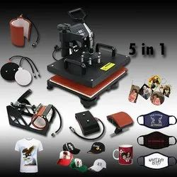 Stainless Steel Premier HD 5 In 1 One Combo Mug & Cap Printing Machine, For Check 99 Sublimation, Products