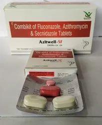 Combikit Of Fluconazole Azithromycin Secnidazole Tabs